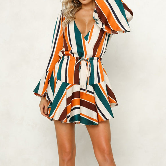Irregular Stripe Dress