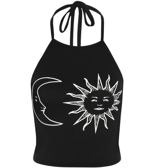 Moon and Star Halter Top