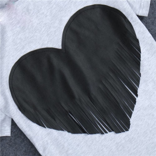 Fringed Heart Tee