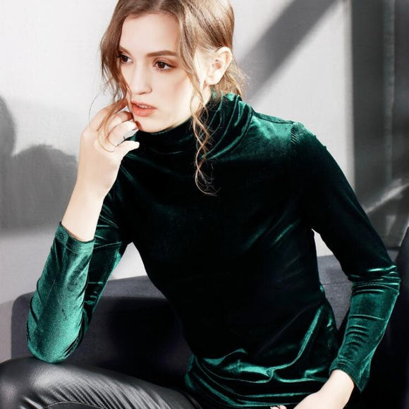 Velvet Turtleneck