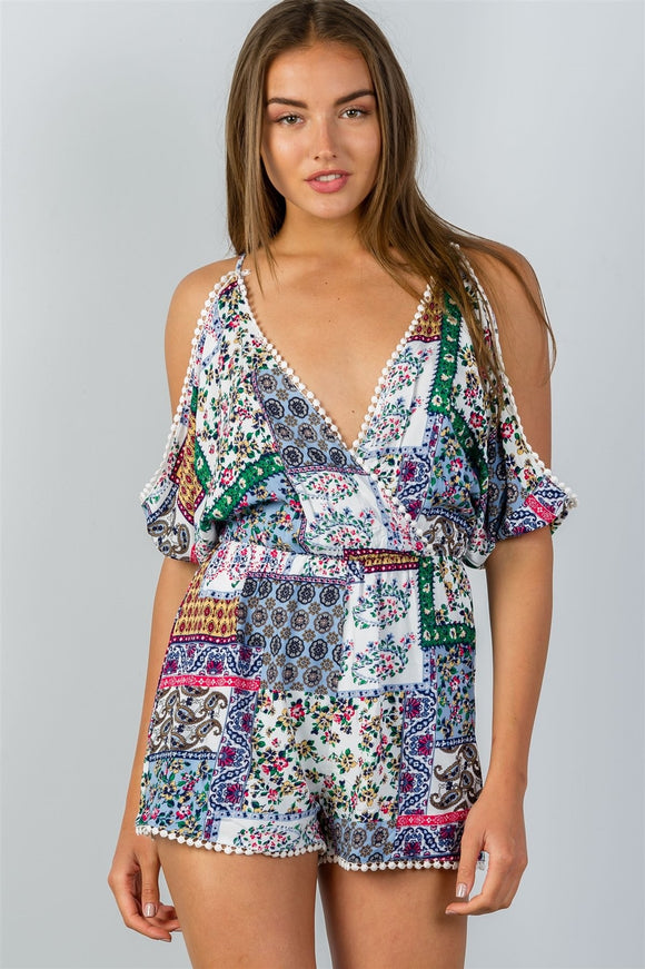 Aria Cold Shoulder Romper