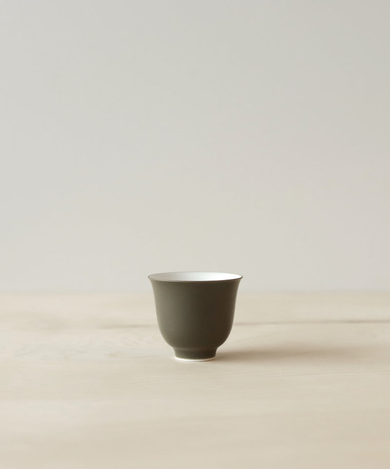 Olive Green Tea Cup