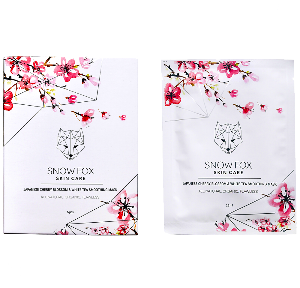 Snow Fox Skincare Japanese Cherry Blossom and White Tea Smoothing Mask