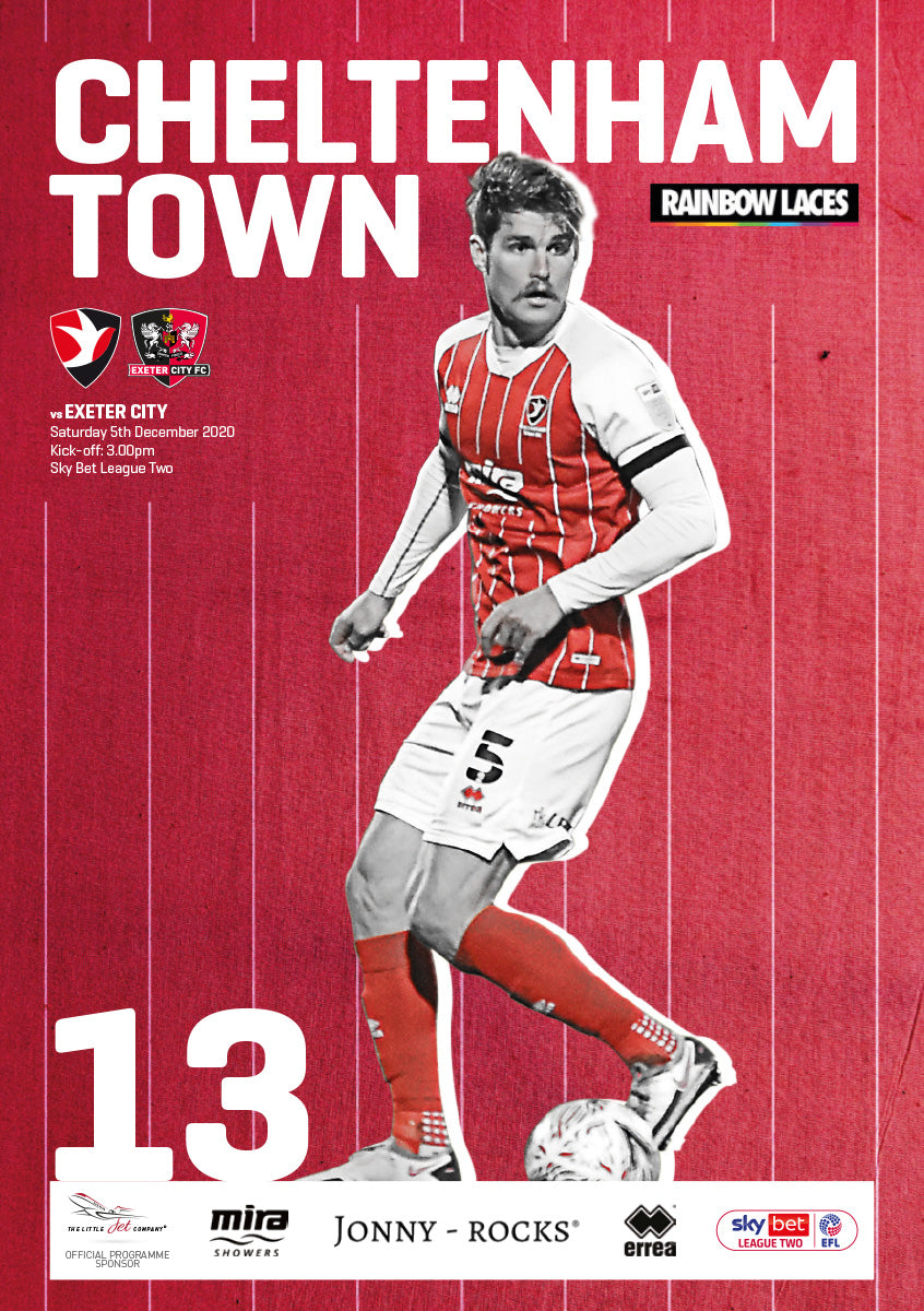 Exeter City (Saturday, December 5) - limited edition print version