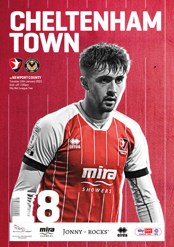 Newport County AFC (Tuesday, January 19) - limited edition print version