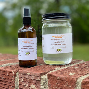 Hand Sanitizer: Sweet Basil & Lemon