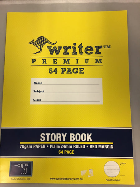 Writer Premium Story Book 64 page 24mm