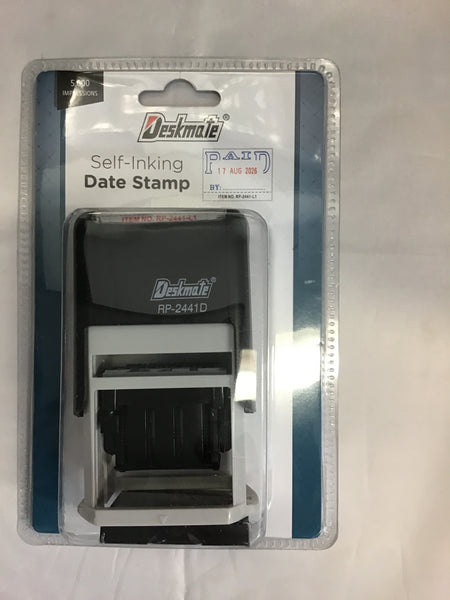 Deskmate Stamp Self inking Paid/date Blue