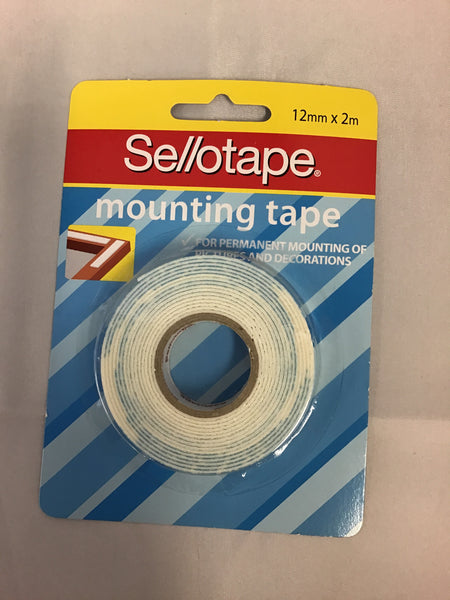 Sellotape Mounting Tape 12mm x 2m