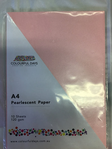Colourful Days A4 Pearlescent Paper 10 Sheets 120gsm