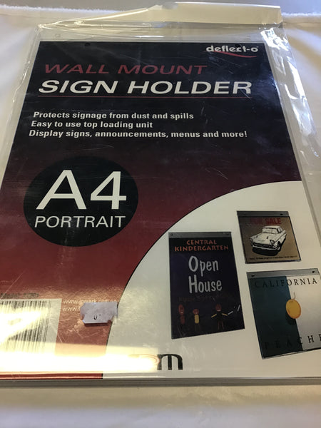 Deflecto Wall Mounted Sign Holder A4