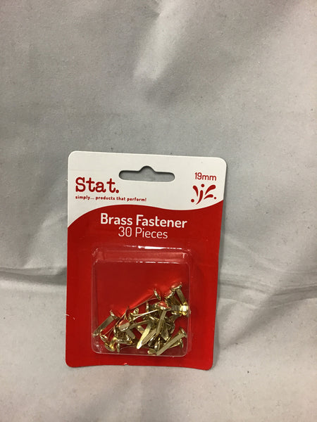 Stat Brass Fastener 30 piece Gold
