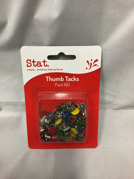 Stat Drawing Pins Thumb Tacks Pack 100