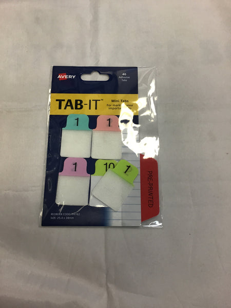 Avery Tab it Mini tabs 40 Adhesive