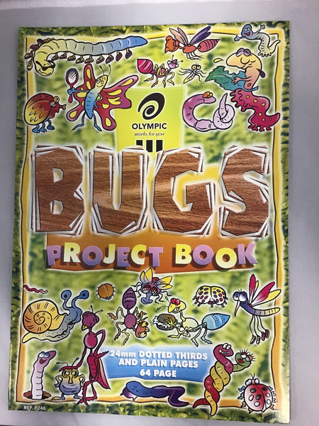 Olympic Bugs Project Book 24mm Dotted Thirds and Plain Pages 64 page