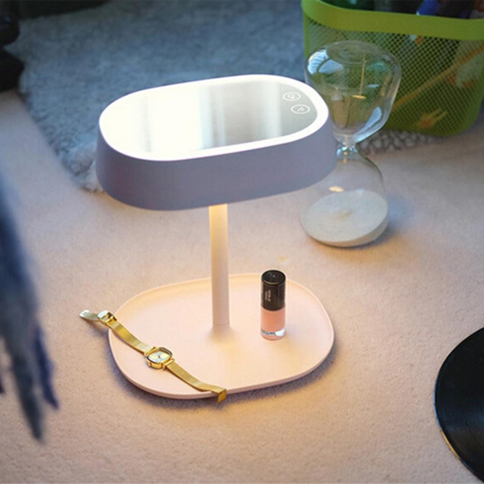 Folding Makeup Mirror Desk Lamp