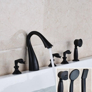 Luxury Elegant Oil Rubbed Bronze Bathroom Tub Faucet