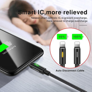 Auto Disconnect Fast Charging Cord for iPhone