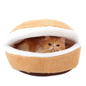 Hamburger Cat bed