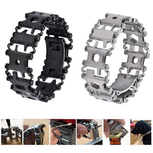 29 in 1 Multi functional Tread Bracelet Stainless Steel Tools Kit
