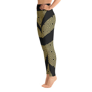 Gold Greek Yoga Leggings - Stage 12