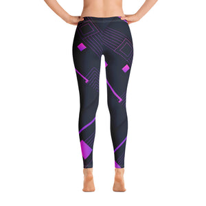 Digital Square Abstract Leggings - Stage 12