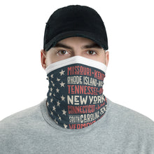 Load image into Gallery viewer, USA FLAG AND STATES FACE MASK - Stage 12