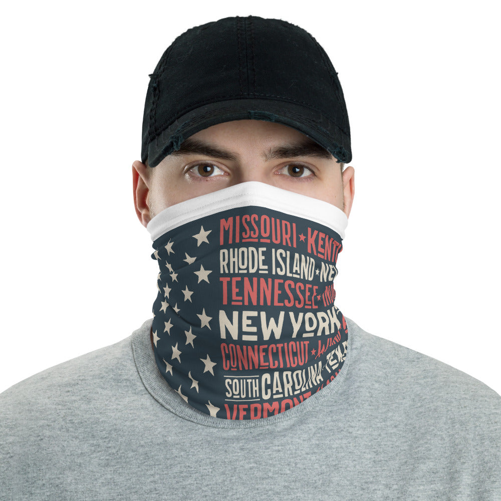 USA FLAG AND STATES FACE MASK - Stage 12