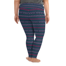 Load image into Gallery viewer, Christmas Tree/Hat Winter Plus Size Leggings - Stage 12