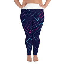 Load image into Gallery viewer, Neon Laser Maze Plus Size Leggings - Stage 12