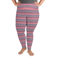 Load image into Gallery viewer, Snow/White Tree Winter Yoga Plus Size Leggings - Stage 12