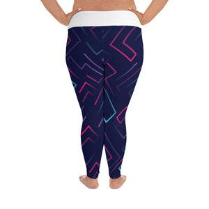 Neon Laser Maze Plus Size Leggings - Stage 12