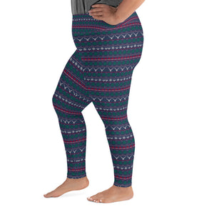 Christmas Tree/Hat Winter Plus Size Leggings - Stage 12