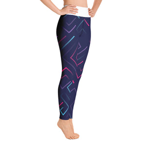 Neon Laser Maze Yoga Leggings w/ Pockets - Stage 12