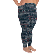 Load image into Gallery viewer, Reindeer Winter Yoga Plus Size Leggings - Stage 12