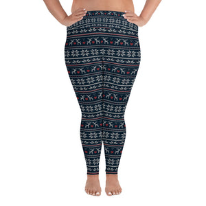 Reindeer Winter Yoga Plus Size Leggings - Stage 12