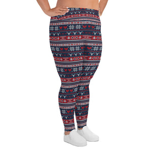 Heart Snow Yoga Plus Size Leggings - Stage 12