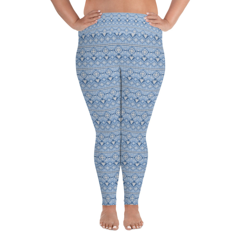 Snow Flake Plus Size Yoga Leggings - Stage 12