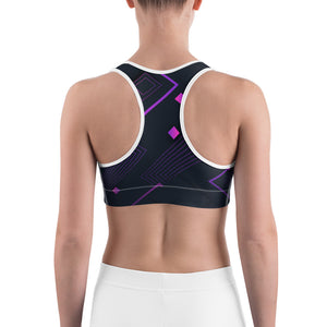 Digital Square Abstract Sports bra - Stage 12