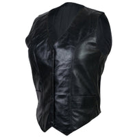 VL1017 Vance Leather Ladies Lambskin Plain Side Vest - Daytona Bikers Wear