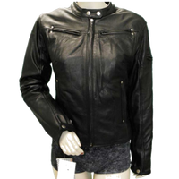 HML615 Ladies Naked Leather Vented Jacket Adorned with Studs and Braid
