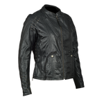 HML638B Ladies Lightweight Goat Skin Leather Jacket