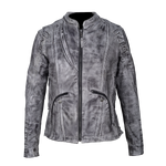 HML638WB Ladies Lightweight Acid Wash Goat Skin Leather Jacket