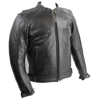HMM538 Leather Vented Scooter Jacket