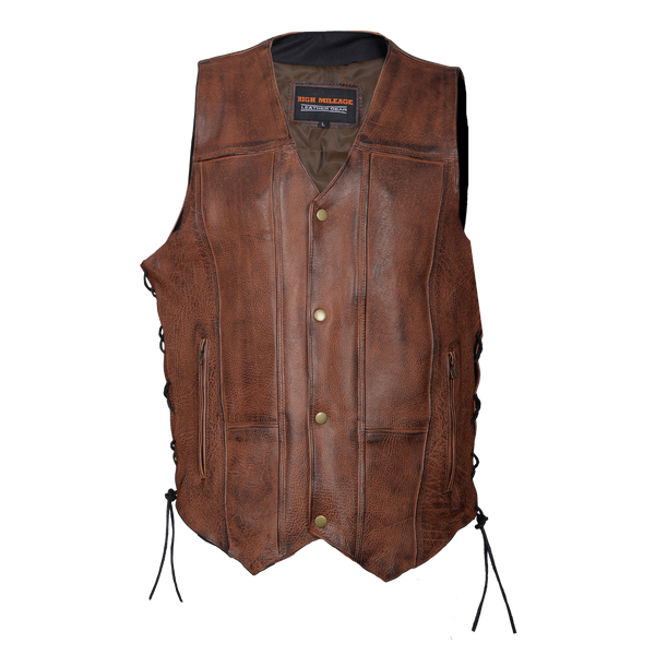 HMM915VB Men's Vintage Brown 10 Pocket Vest