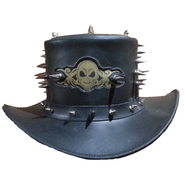 SteamPunk Skull & Spike (Hands Off) Top Hat