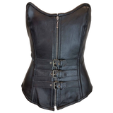 VC1338 Vance Leather Ladies 3 Buckle Zip Front Corset