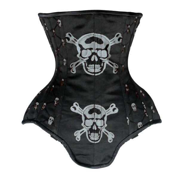 VC1403 Ladies Brocade Corset with Skulls