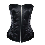 VC1452 Ladies Satin Corset Reversible Black and Pink
