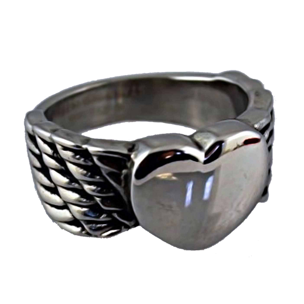 VJ1009 Stainless Steel Ladies Winged Heart Ring